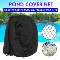 Pond Cover Net Fish Anti Bird Netting Garden Mesh Fruit Veg Protect + 10x Nail