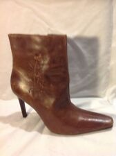 Dolcis Brown Ankle Leather Boots Size 40