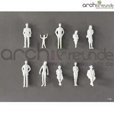 10 x Modell Figuren und Kinder weiß Modellbau 1:30 Modelleisenbahn Spur 1