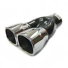 Twin Exhaust Tip Trim For Audi A6 S6 A7 S7 A8 S8 Q3 Q5 Q7 80 90 100 200 TT
