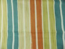 Blue Orange Stripe Clarke & Clarke Curtain Fabric Remnant 3 Large Off Cuts