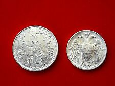 Lot of two coins of 30 drachmas ,18+12 grams,83.5% SILVER, XF to AU condition.