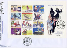 Spain 2017 FDC History of Spain 20th Cent Gallego & Rey 1v M/S Cover Stamps