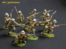 Painted Plastic British 1:32 6-10 Toy Soldiers