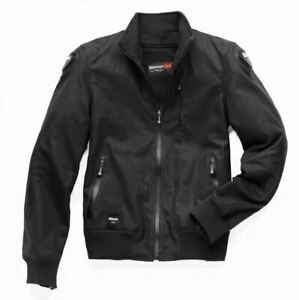 Blauer Indirect Waxed Cotton Black Motorcycle Jacket RRP £369 *FREE UK DELIVERY*
