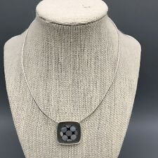with Mother of Pearl Inlay Soul Flower Sterling Silver Choker Necklace