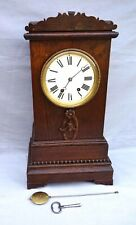 French Mantle Clock 8 Days Movement Wooden Case 19th C
