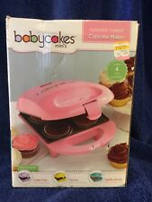 Babycakes 4 Mini Size Cupcake Maker Pink Nonstick Dessert Muffin CC-M50