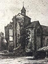 La Roë Abraham Tancrède Château-Gontier Mayenne Pays de la Loire estampe 1872
