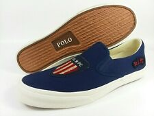 Polo Ralph Lauren Thompson USA Flag Shield Men's Size 12 R.L.P.C. Shoes NEW