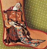 🎄 Norman Rockwell Christmas Stocking - SANTA'S SURPRISE - Cross Stitch Chart