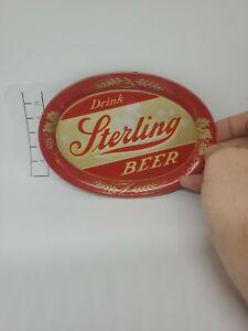 Vintage Sterling Beer Advertising Tip Tray