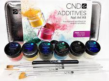 Color Additives - 6 additives & Logo Tool Set - Nail Art Kit- Cnd
