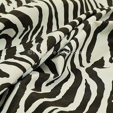 Faux Leather Vinyl Animal Print Zebra Theme Black White Colour Upholstery Fabric