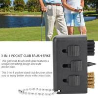 3-in-1 Golf Club Cleaning Brush-Groove Putter Wedge Ball Shoe Cleaner Tool Kit