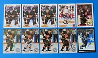 LOT OF 10 ROBERT KRON SIGNED HOCKEY CARDS ~ UD PINNACLE TOPPS ~ 100% GUARANTEE