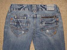 Aeropostale Size 1 / 2 Short Chelsea Skinny Bootcut Light Blue Destroyed Jeans
