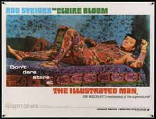 ILLUSTRATED MAN British Quad movie poster 30x40 ROD STEIGER TATTOO LINEN BACKED