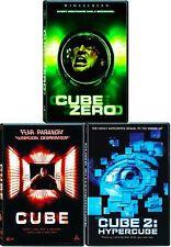 Cube 1 2 Zero All 3 Film DVD Set Collection Show Bundle Lot Horror Fiction TV R1
