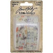 Tim Holtz ~ Linen Tape ~ Floral ~ Idea-ology 2 Rolls