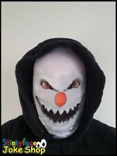 Demon Snowman Scary Horror Full Head Mask Realistic Printed Lycra for Halloween