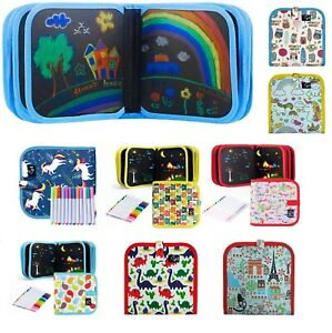Portable Drawing Boards Erasable Doodle Book Kids Travel Toys Writing 3-8 Year