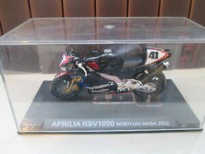 NORIYUKI HAGA APRILIA RSV1000  SUPERBIKES  2002 1-24 SCALE MOTORCYCLE MODEL