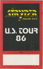 STRYPER 1986 To Hell With The Devil Backstage Pass