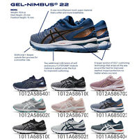 Asics Gel-Nimbus 22 2E / D Wide Men Women Road Running Shoes Sneakers Pick 1