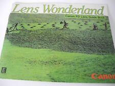 Canon FD Lens Guide Book Wonderland Instruction Manual Vintage 1982 45 PAGES