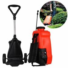 16L Electric Pressure Water Sprayer Rechargeable Garden Farm Backpack Trolley