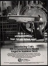1984 COLT 1911A1 Government Model Pistol AD Collectible Handgun ADVERTISING