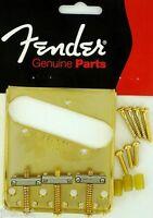 Nuevo PUENTE FENDER USA TELECASTER oro 099-0806-200 vintage para guitarra TELE