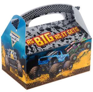 MONSTER JAM trucks Birthday Party  PAPER FAVOR BOX 1pc (EMPTY) Grave Digger