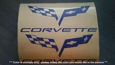 Chevy Corvette Logo / Stickers / Decals - assortment, 2 total, multiple colors