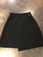 Bottega Veneta Black Wool Lined Wrap Skirt XS 2 38