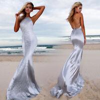 TOP Ballkleid Mermaid Abendkleid Party Gala Kleid rückenfrei Figur betont BC589