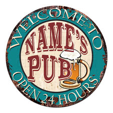 CP-0112 ANY NAME'S PUB Custom Personalized Tin Chic Sign decor Gift