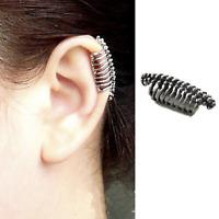 1 SKULL SPINE WOMENS MENS PUNK GOTH CLIP WRAP EAR STUDS EARRINGS EMO CARTILAGE