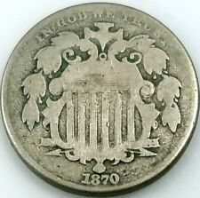 1870 Shield Nickel! Add this coin to your collection!