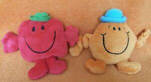 "Persil MR MEN Plush Soft Toys Mr Strong & Mr Tickle 6"""