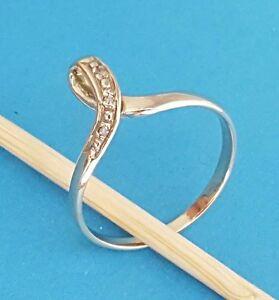 Damen-Ring 333 Gelb-Gold 8 Karat Zirkon Größe 60 gestempelt Echt Hochwertig NEU