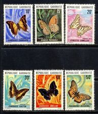 Gabon Butterfly set Scott 305-11 mnh vf complete 25.40
