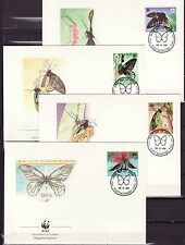 Papua New Guinea 1988 - FDC - Vlinders/Schmetterlinge/Butterflies  WWF
