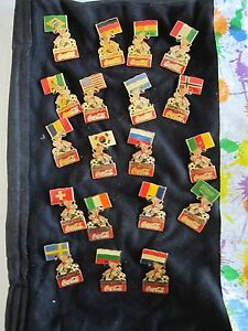 (19) 1994 COCA COLA WORLD CUP SOCCER PINS - DIFFERENT COUNTRIES -TUB BN-3