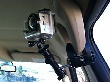 Mount Camera in Car. Clamping Camera Mount works with any Camera. Works Great!