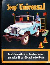 1964 1965 Jeep Universal CJ5 CJ-6 CJ-5 Original Car Sales Brochure
