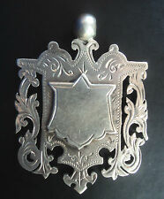 LARGE Victorian Silver Swimming Medal / Watch Fob / Pendant - 1896 Birmingham