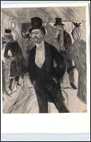 DDR Künstlerkarte 1957 Toulouse-Lautrec Monsieru Foucard VEB Seemann Verlag