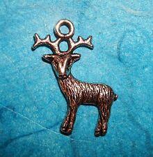 Pendant Deer Charm Buck Charm Reindeer Charm Chirstmas Charm Antlers Charm Santa